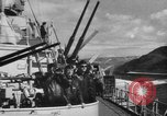 Image of German warships underway to intercept Allied convoys to Russia Norway, 1942, second 6 stock footage video 65675049873