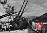 Image of German warships underway to intercept Allied convoys to Russia Norway, 1942, second 7 stock footage video 65675049873