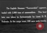 Image of British steamers Yarrowdale and St.Theodore seized Atlantic Ocean, 1916, second 1 stock footage video 65675049914