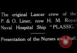 Image of British hospital ship Plassy Orkney Islands, 1917, second 4 stock footage video 65675049922