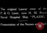 Image of British hospital ship Plassy Orkney Islands, 1917, second 5 stock footage video 65675049922