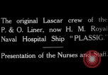 Image of British hospital ship Plassy Orkney Islands, 1917, second 6 stock footage video 65675049922