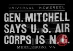Image of General William D Mitchell speaks about air power Middleburg Virginia USA, 1936, second 1 stock footage video 65675049978