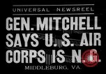 Image of General William D Mitchell speaks about air power Middleburg Virginia USA, 1936, second 2 stock footage video 65675049978