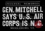 Image of General William D Mitchell speaks about air power Middleburg Virginia USA, 1936, second 8 stock footage video 65675049978