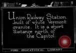 Image of Union Railway Station Washington DC USA, 1921, second 2 stock footage video 65675049990