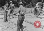 Image of hammering rock slabs Tennessee United States USA, 1940, second 2 stock footage video 65675050026