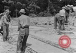 Image of hammering rock slabs Tennessee United States USA, 1940, second 5 stock footage video 65675050026