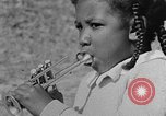 Image of Negro children's band Calhoun Alabama USA, 1940, second 9 stock footage video 65675050048