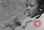 Image of Negro children's band Calhoun Alabama USA, 1940, second 12 stock footage video 65675050048