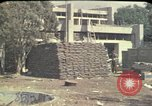 Image of sandbagged outpost Beirut Lebanon, 1983, second 10 stock footage video 65675050093