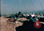 Image of sandbagged bunkers Beirut Lebanon, 1983, second 3 stock footage video 65675050100