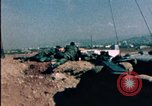 Image of sandbagged bunkers Beirut Lebanon, 1983, second 4 stock footage video 65675050100
