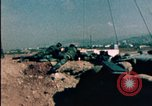 Image of sandbagged bunkers Beirut Lebanon, 1983, second 8 stock footage video 65675050100