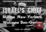 Image of David Ben Gurion New York United States USA, 1951, second 2 stock footage video 65675050153