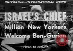 Image of David Ben Gurion New York United States USA, 1951, second 3 stock footage video 65675050153