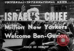 Image of David Ben Gurion New York United States USA, 1951, second 4 stock footage video 65675050153
