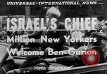 Image of David Ben Gurion New York United States USA, 1951, second 6 stock footage video 65675050153