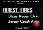 Image of forest fire New Jersey United States USA, 1951, second 2 stock footage video 65675050154