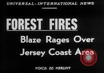Image of forest fire New Jersey United States USA, 1951, second 4 stock footage video 65675050154