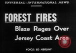 Image of forest fire New Jersey United States USA, 1951, second 5 stock footage video 65675050154