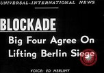 Image of Jessup-Malik Agreement ends Berlin Blockade New York United States USA, 1949, second 6 stock footage video 65675050156