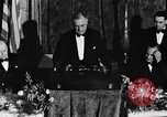 Image of President Franklin D. Roosevelt Washington DC USA, 1937, second 4 stock footage video 65675050167