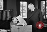 Image of Herbert Hoover voting Palo Alto California USA, 1940, second 8 stock footage video 65675050189