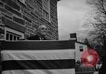 Image of FDR dedicates new post office Hyde Park New York USA, 1940, second 1 stock footage video 65675050190
