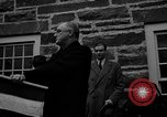 Image of FDR dedicates new post office Hyde Park New York USA, 1940, second 7 stock footage video 65675050190