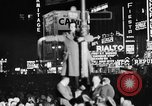 Image of Presidential election returns displayed on Times building New York City USA, 1940, second 7 stock footage video 65675050197