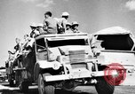Image of British soldiers retrieve a disabled tank while being shelled North Africa, 1941, second 9 stock footage video 65675050209