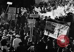 Image of banners supporting Franklin Roosevelt Philadelphia Pennsylvania USA, 1936, second 5 stock footage video 65675050258