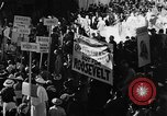 Image of banners supporting Franklin Roosevelt Philadelphia Pennsylvania USA, 1936, second 8 stock footage video 65675050258