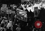 Image of banners supporting Franklin Roosevelt Philadelphia Pennsylvania USA, 1936, second 9 stock footage video 65675050258