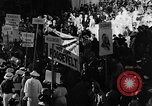 Image of banners supporting Franklin Roosevelt Philadelphia Pennsylvania USA, 1936, second 10 stock footage video 65675050258
