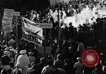 Image of banners supporting Franklin Roosevelt Philadelphia Pennsylvania USA, 1936, second 12 stock footage video 65675050258