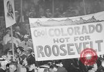 Image of banners supporting Franklin Roosevelt Philadelphia Pennsylvania USA, 1936, second 2 stock footage video 65675050259