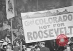 Image of banners supporting Franklin Roosevelt Philadelphia Pennsylvania USA, 1936, second 3 stock footage video 65675050259