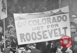 Image of banners supporting Franklin Roosevelt Philadelphia Pennsylvania USA, 1936, second 4 stock footage video 65675050259