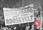 Image of banners supporting Franklin Roosevelt Philadelphia Pennsylvania USA, 1936, second 5 stock footage video 65675050259