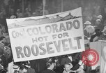 Image of banners supporting Franklin Roosevelt Philadelphia Pennsylvania USA, 1936, second 6 stock footage video 65675050259