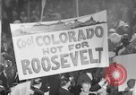 Image of banners supporting Franklin Roosevelt Philadelphia Pennsylvania USA, 1936, second 7 stock footage video 65675050259