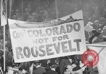Image of banners supporting Franklin Roosevelt Philadelphia Pennsylvania USA, 1936, second 9 stock footage video 65675050259