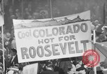 Image of banners supporting Franklin Roosevelt Philadelphia Pennsylvania USA, 1936, second 10 stock footage video 65675050259