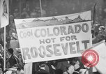 Image of banners supporting Franklin Roosevelt Philadelphia Pennsylvania USA, 1936, second 11 stock footage video 65675050259