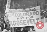 Image of banners supporting Franklin Roosevelt Philadelphia Pennsylvania USA, 1936, second 12 stock footage video 65675050259