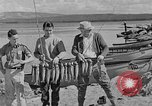 Image of tourists and wildlife Wyoming United States USA, 1936, second 12 stock footage video 65675050294
