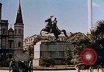 Image of French Quarter and Jackson Square New Orleans Louisiana USA, 1942, second 8 stock footage video 65675050321