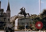 Image of French Quarter and Jackson Square New Orleans Louisiana USA, 1942, second 10 stock footage video 65675050321